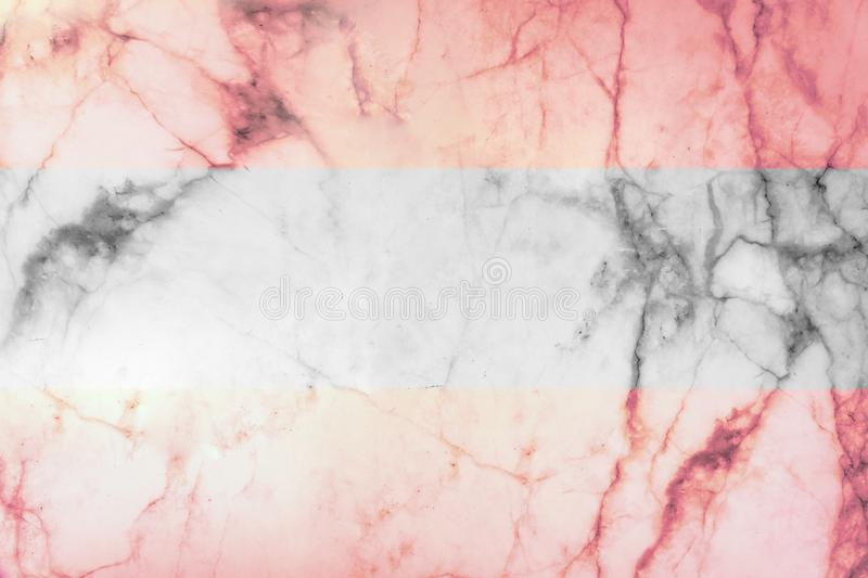 Pink colored marble textured background with black and white stripe zone royalty free stock photo