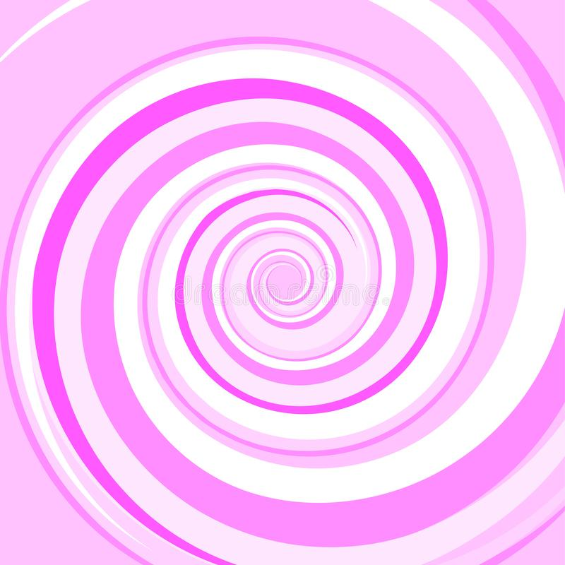 Pink Colored Twirl Spiral. Abstract Background. Vector. Illustration stock illustration