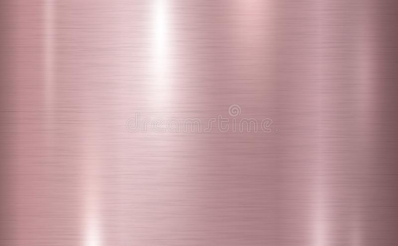 Pink copper metal texture background vector illustration. For design work royalty free illustration