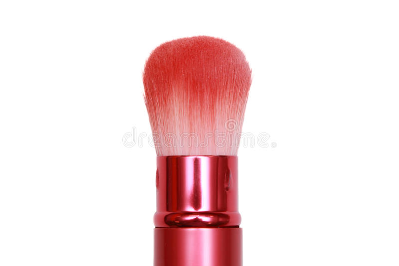 Download Pink Cosmetic Brush In White Background Stock Image - Image: 30470405
