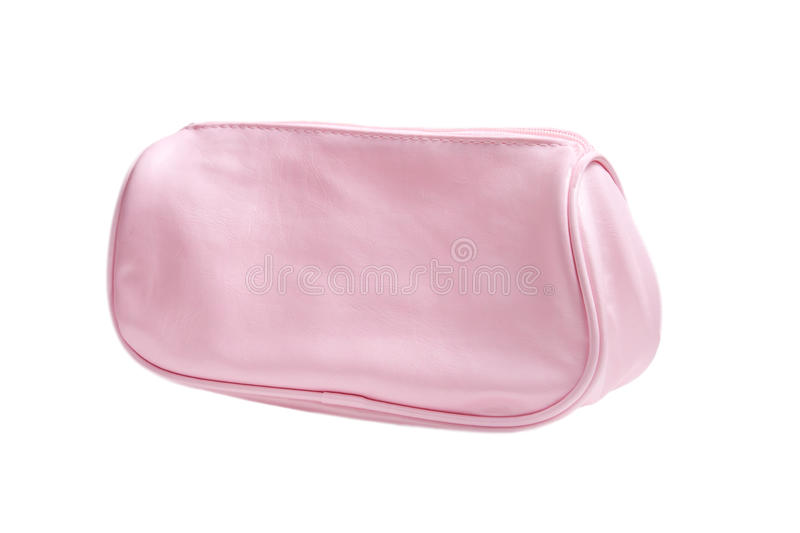 Download Pink Cosmetics Bag Isolated On White Stock Image - Image: 22964067