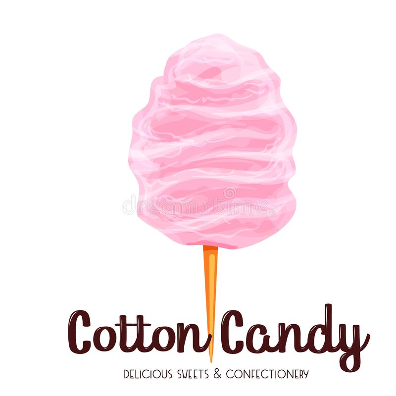 Pink cotton candy icon. royalty free illustration