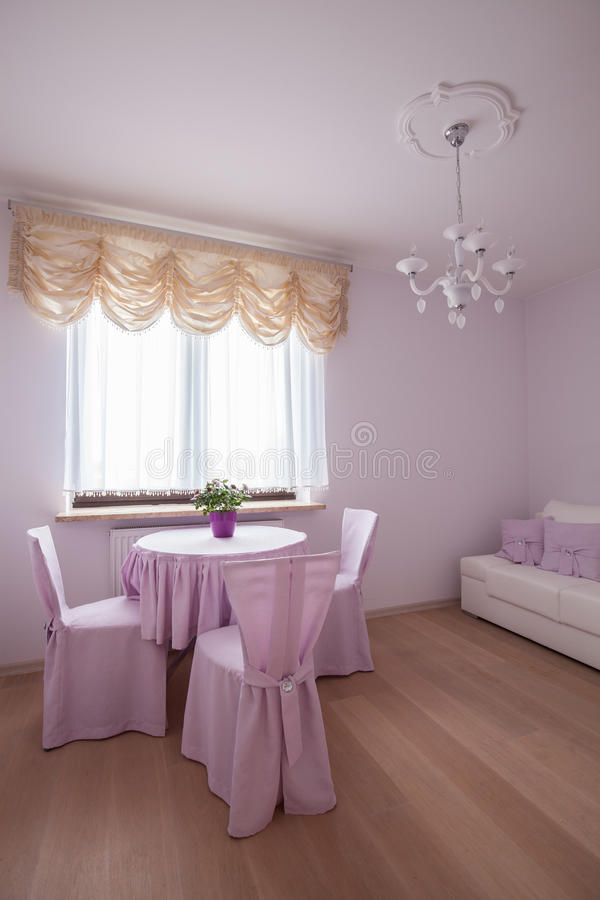 Pink cozy place royalty free stock image