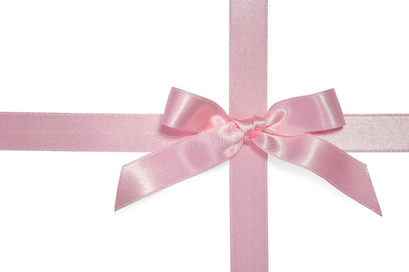 Download Pink cross ribbon with bow stock image. Image of ribbon - 12043895
