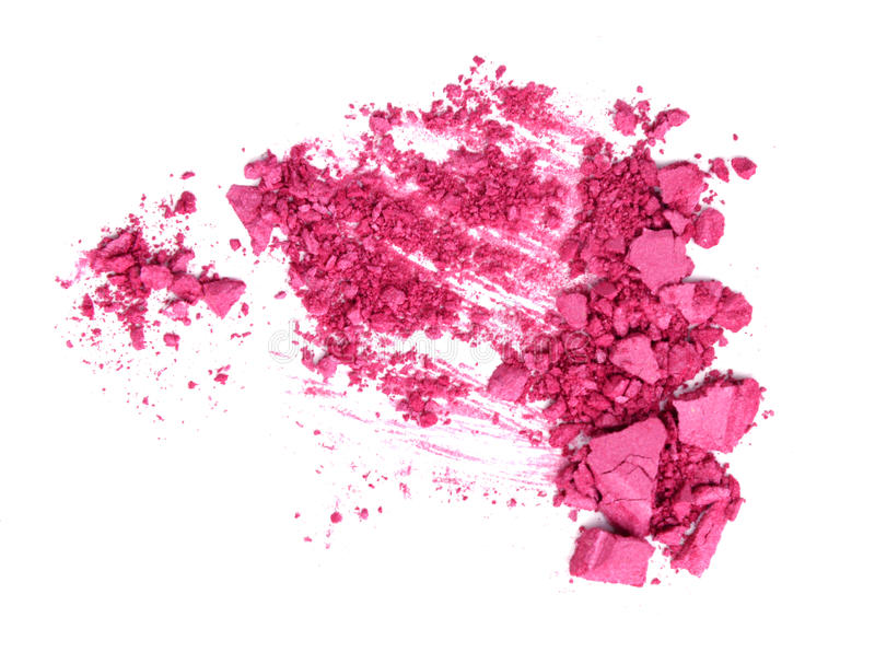 Pink Crushed Cosmetic on white.  royalty free stock images