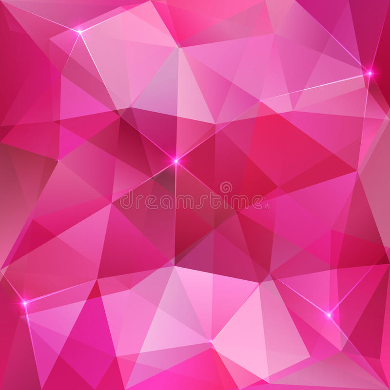 Pink crystal vector abstract background royalty free illustration