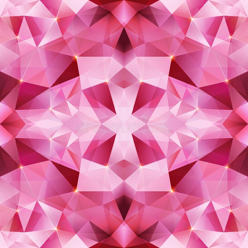 Pink crystal vector abstract seamless pattern royalty free illustration