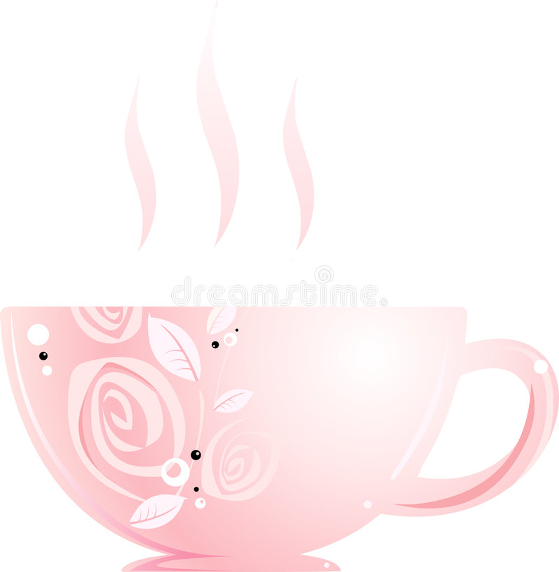 Download Pink cup stock vector. Image of beverages, heat, charming - 8724337