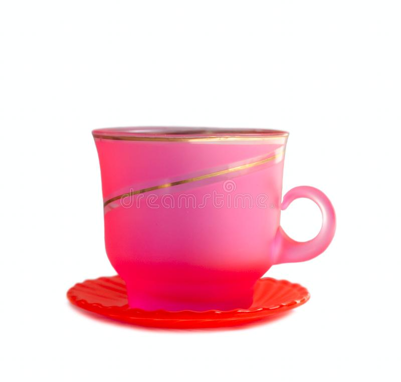 Pink Cup isolated on white