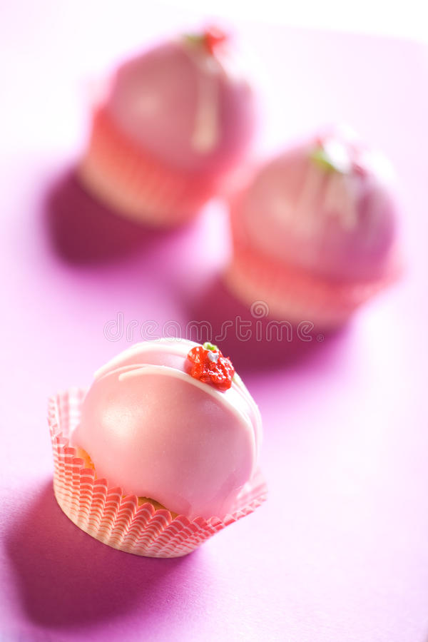 Download Pink cupcakes stock image. Image of food, flower, color - 13211967