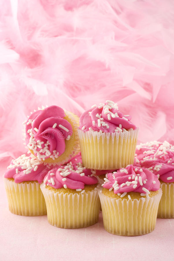 Pink Cupcakes Breast Cancer Awareness Royalty Free Stock Images