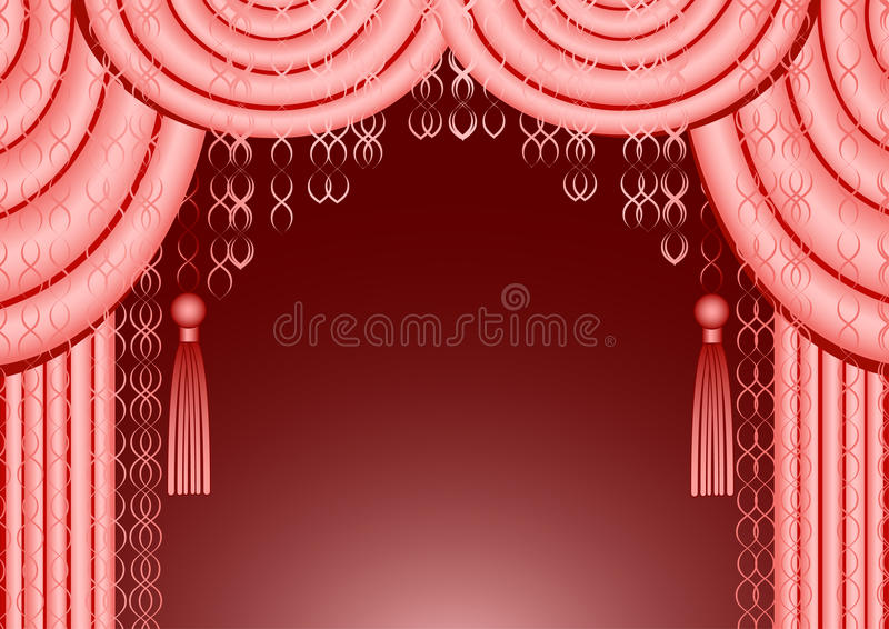 Pink Curtain Frame Royalty Free Stock Image