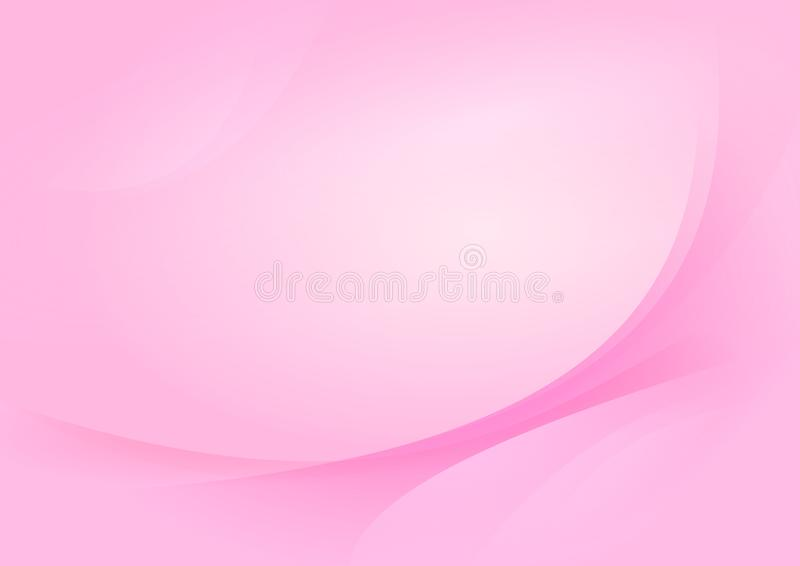 Pink Curve Luxury Abstract Background Vector. Image of pink curve abstract illustration vector for wallpapar, presentation, web design, modern poster business royalty free illustration