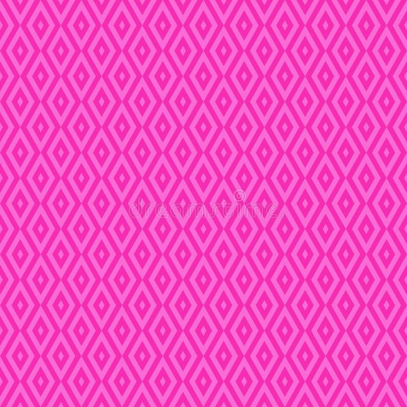 Pink cute geometric vector seamless pattern in flat style. Eps 10 royalty free illustration