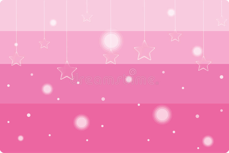 Pink Dangling Stars Background Royalty Free Stock Photos