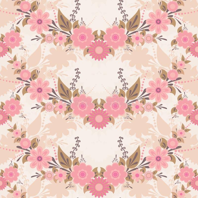 Download Pink Flower Pattern Stock Vector Illustration Of Backdrop