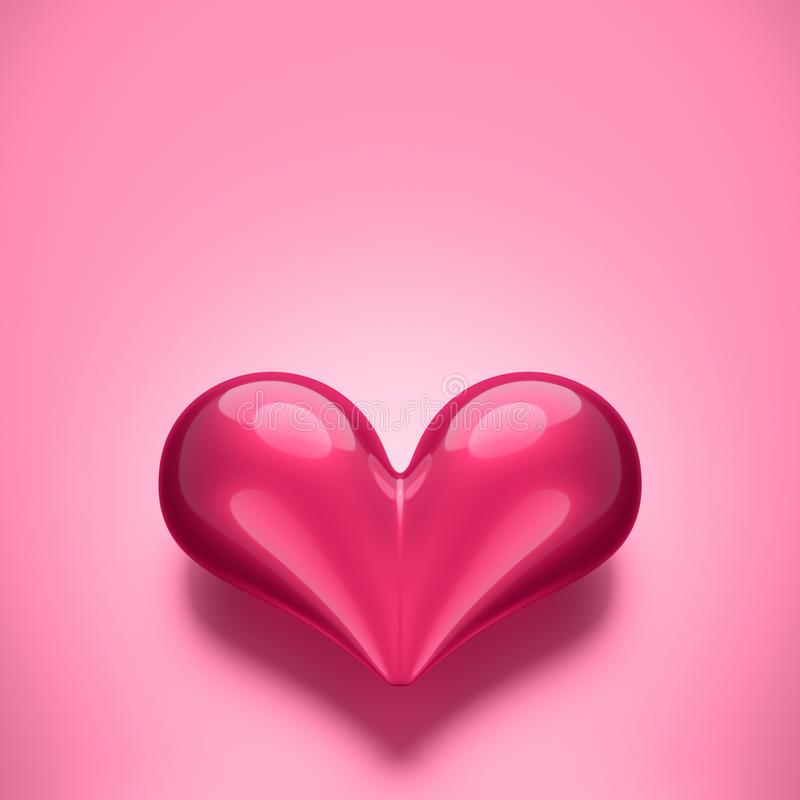 Pink design heart royalty free stock images