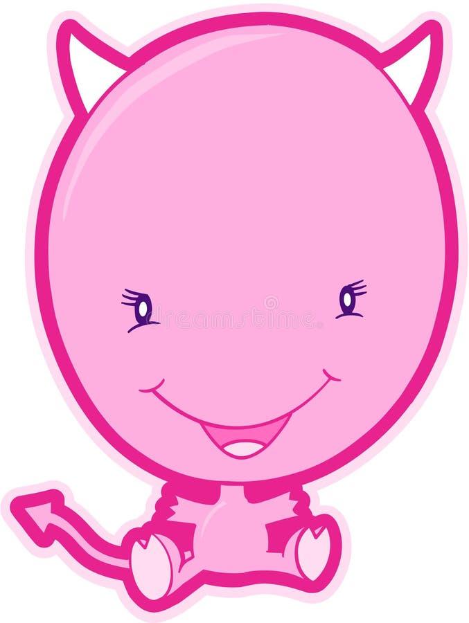 Download Pink Devil Vector stock vector. Image of happy, clip, sweet - 5757571