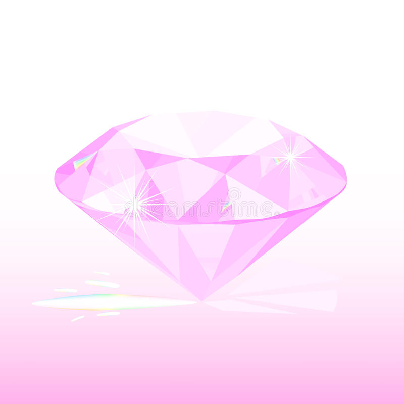 pink diamond stock illustration