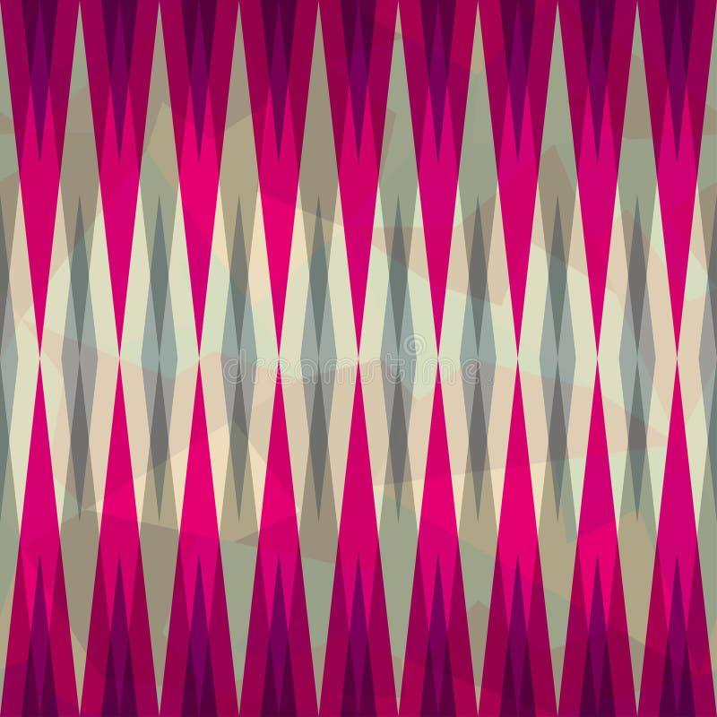 Pink diamond seamless pattern royalty free illustration