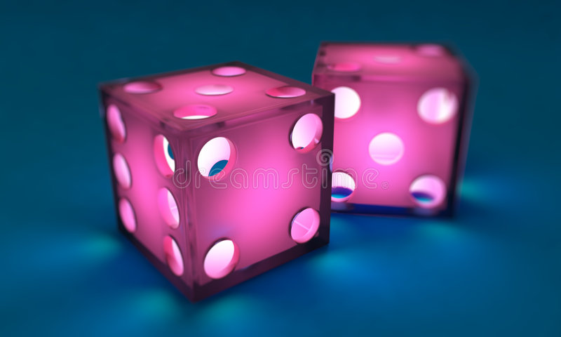 Pink dice royalty free illustration