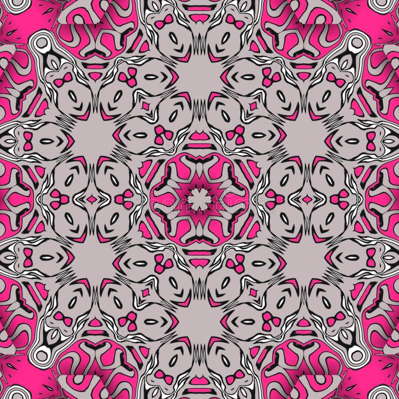 Pink abstract and  digital art forms stock photos