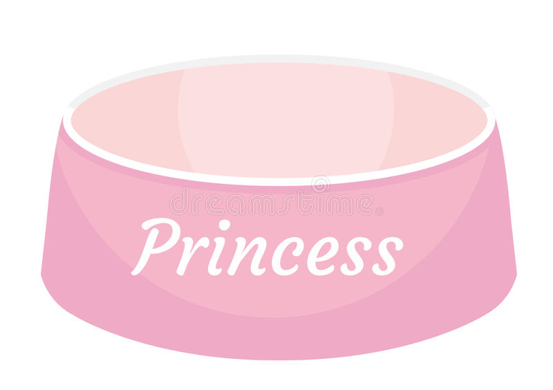 Pink Dog Food Bowl With An Inscription Princess Icon, Flat ... - photo#7
