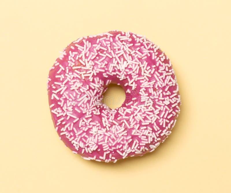 Pink donut royalty free stock photos