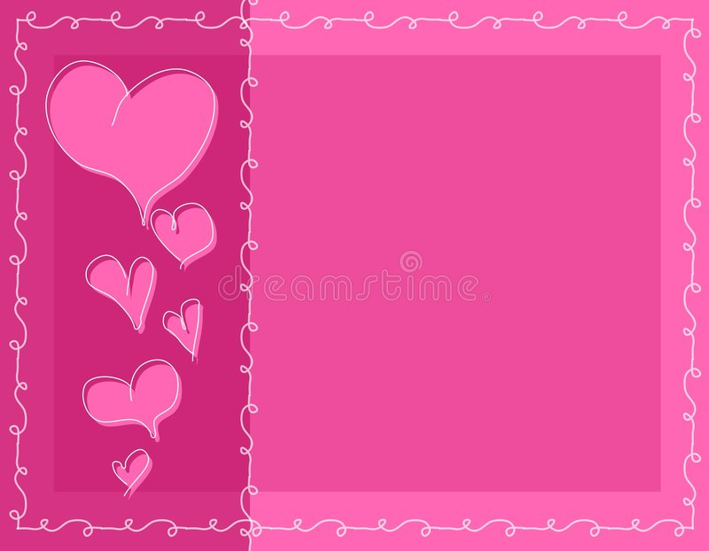 Download Pink Doodle Valentine Hearts Background Stock Illustration - Image: 3909681
