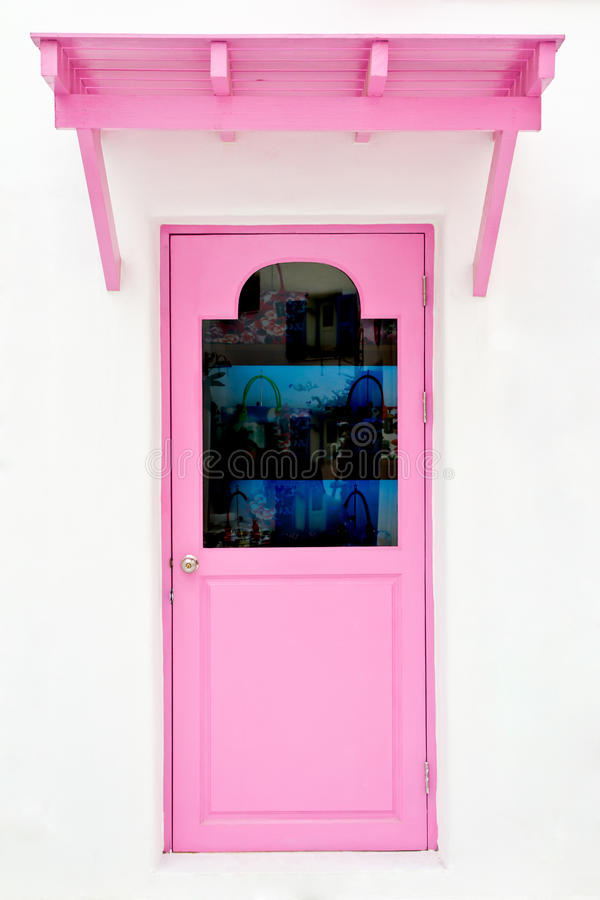 Free Pink Door With Sunshade Stock Images - 24277274