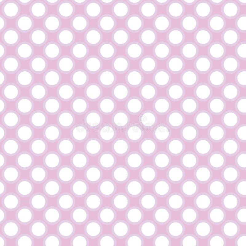 Pink dots. Illustration of seamless pink polka dots pattern royalty free illustration