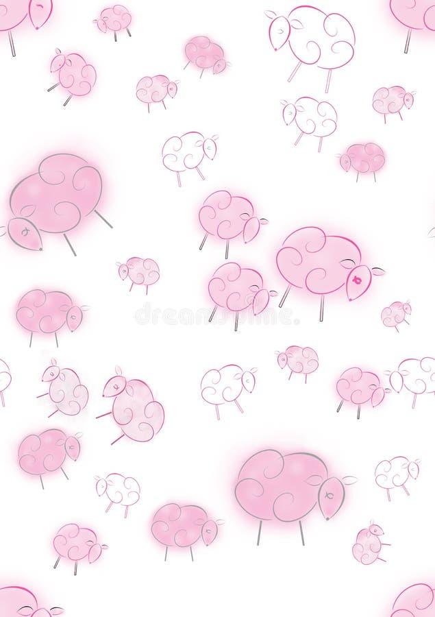 Download Pink Dreams Nursery Seamless Stock Illustration - Illustration: 12425484