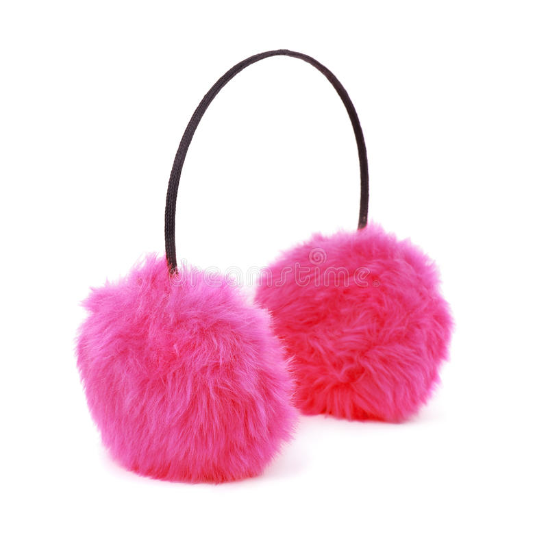 Pink earmuffs royalty free stock image