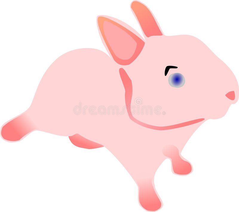 Download Pink Easter Bunny stock vector. Image of blue, vector - 7343421