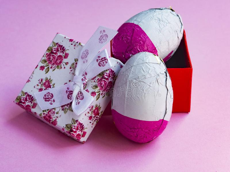 Pink easter eggs with gift box stock image image of dessert pink download pink easter eggs with gift box stock image image of dessert pink negle Gallery