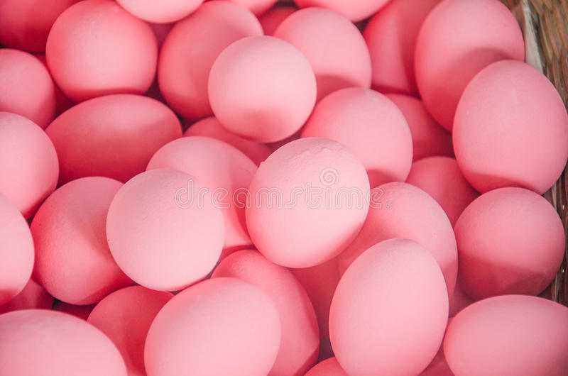 Pink egg stock photography