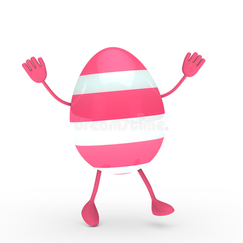 Download Pink egg go and wave stock illustration. Image of april - 22646171