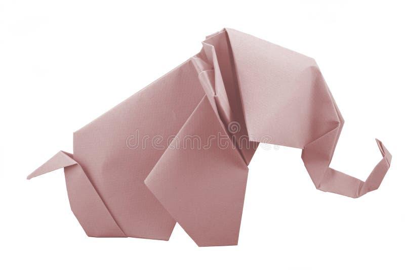 Pink Elephant. Origami elephant pink logo dumbo stock photo
