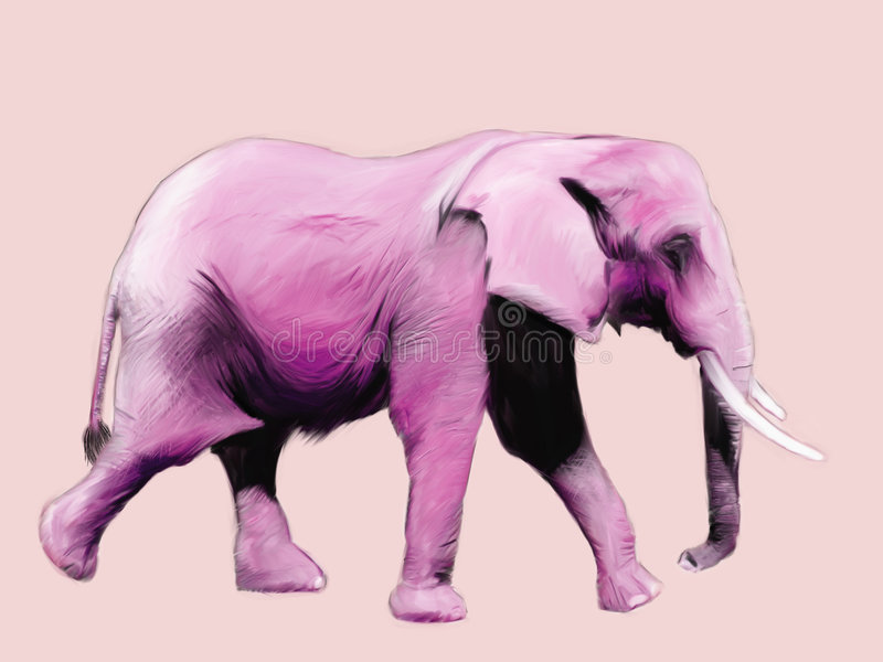 Download Pink Elephant Painting stock illustration. Illustration of painting - 1760107