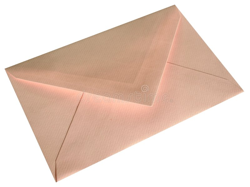 Pink envelope royalty free stock photo