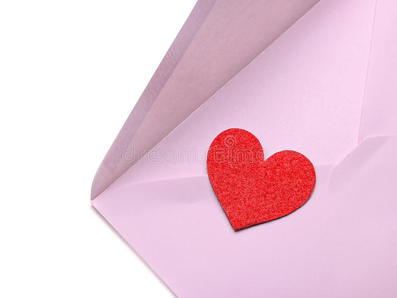 Download Pink envelope stock image. Image of paper, symbol, heart - 42578865