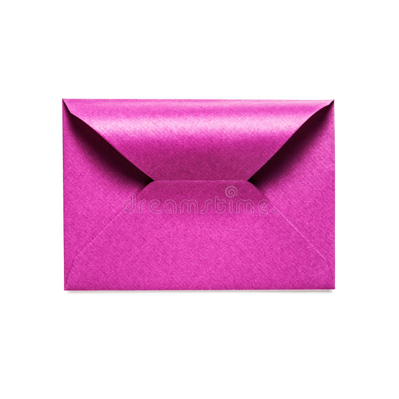 Pink envelope royalty free stock images