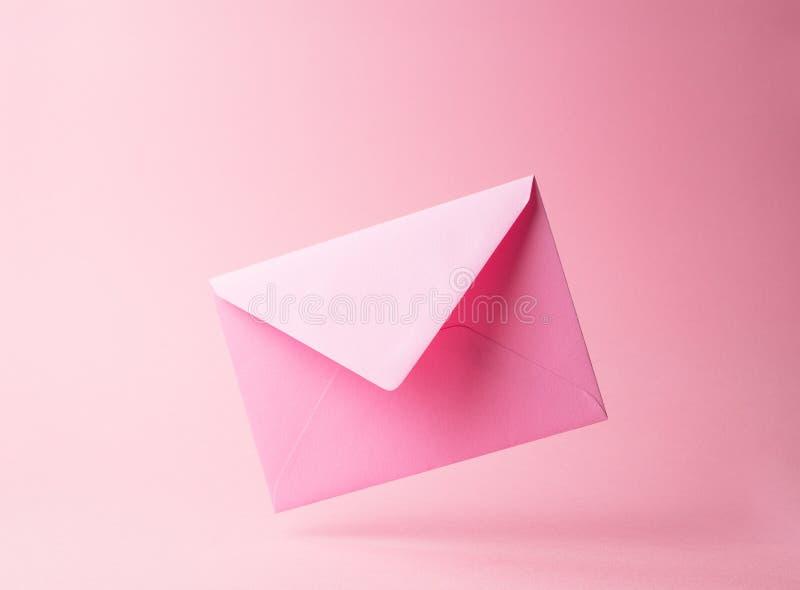 Pink envelope royalty free stock photos