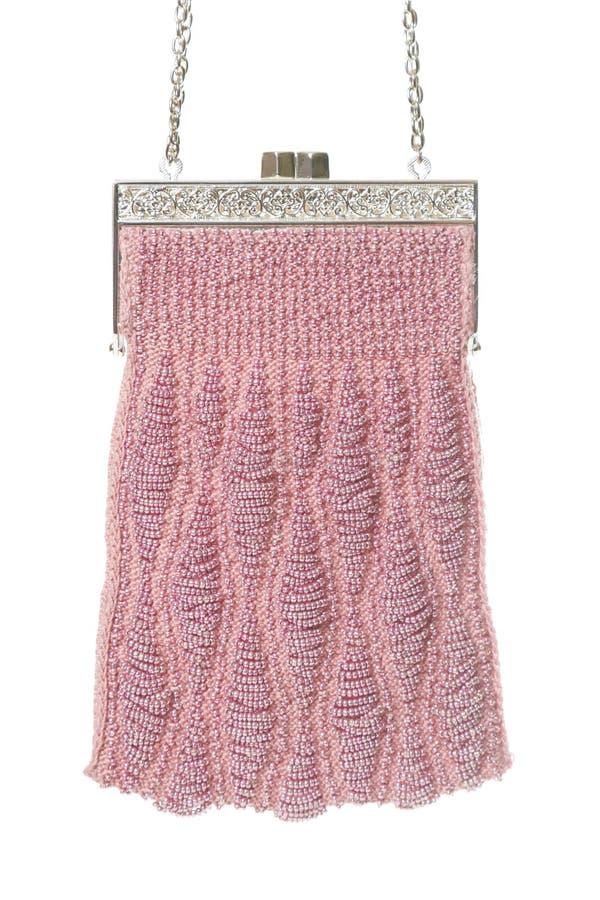 Pink evening bag royalty free stock image