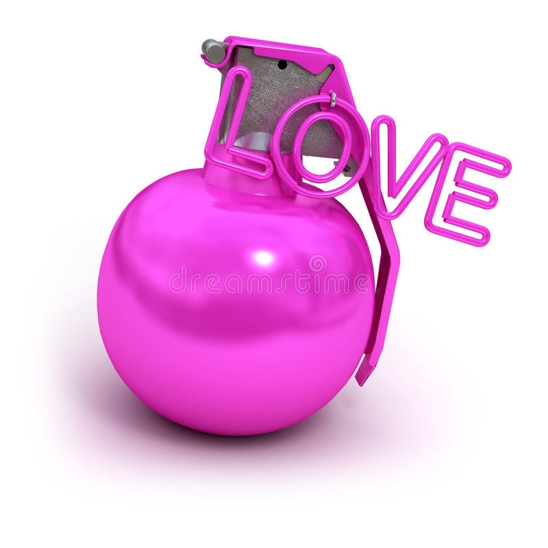 Download Pink explosive love stock illustration. Image of bomb - 5386816