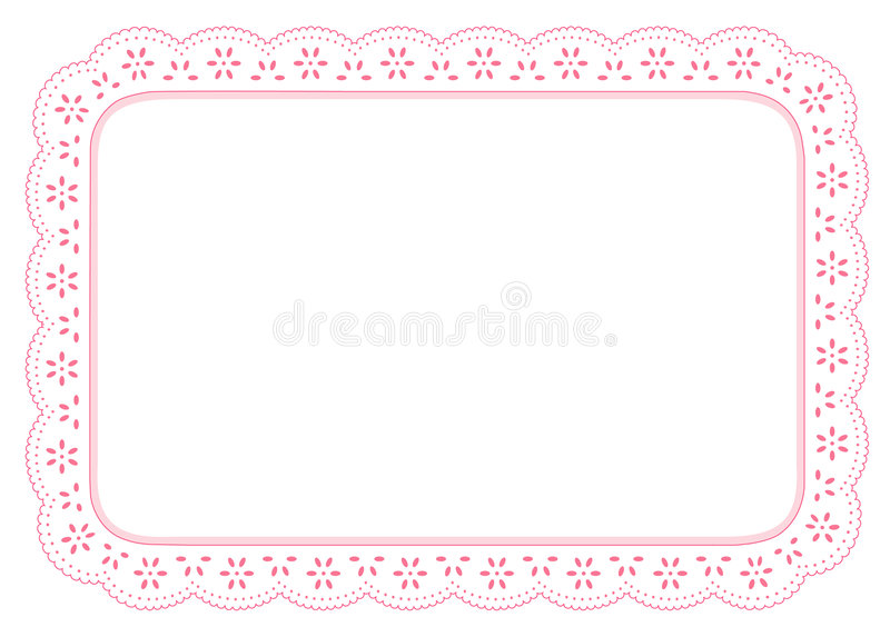 Lace Place Mat, Pink Eyelet. Pink eyelet lace place mat for home decorating, setting table, arts, crafts, scrapbooks, backgrounds. Copy space