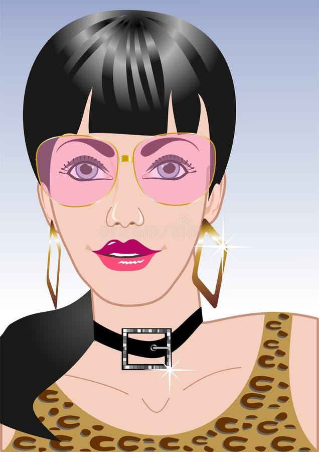 Pink Eyewear stock illustration