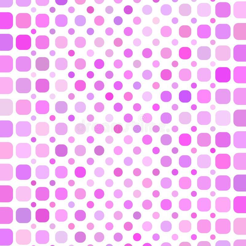 pink för bakgrundscirkelmosaik royaltyfri illustrationer