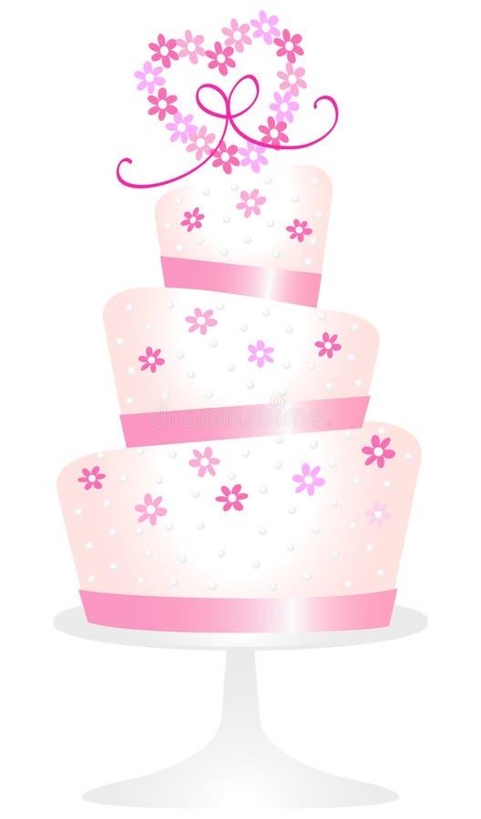 Pink För Caketusenskönahjärta Arkivbild