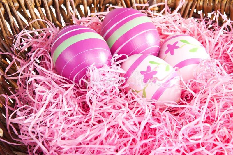 pink för easter äggrede arkivbild